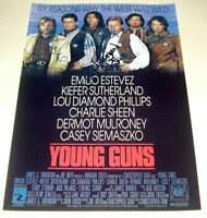 """YOUNG GUNS CAST X4 PP SIGNED POSTER 12""""X8"""" SUTHERLAND"""