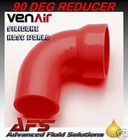 38mm - 32mm I.D RED 90 Degree Reducing Silicone Elbow Hose Pipe Reducer Silicon