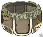 New BestPet Small Camouflage Cat Pet Dog Puppy Playpen Exercise Pen W/Carry Case