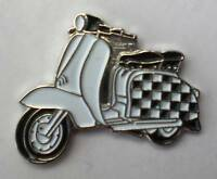 Checkerboard Two Tone Ska Special Scooter Enamel Pin Badge