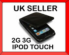 Black Leather Case for iPod Touch iTouch 3rd Gen 2G 3G