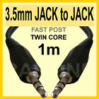 1 m 100 cm 3.5mm to 3.5 mm Cable Male Jack to Jack AUX fits iPod Phone mp3 - W18