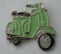 Pale Green Vespa Scooter Mod Quality Enamel Pin Badge