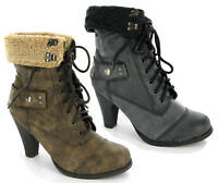 WOMENS MILITARY ARMY FUR COMBAT WORKER BOOTS SIZES 3-8