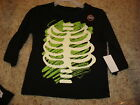 Halloween Infant Boys Shirt Top 24 m NEW Skeleton Black