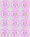 12 Thank You Fairy Cupcake Decoration Edible Cake Toppers PreCut 40mm party bag