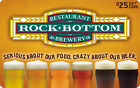 Rock Bottom Restaurant Gift Card - $25 US Mail Delivery