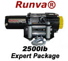 2500lb New Runva ATV UTV 12V Towing Recovery Electric Winch Kit