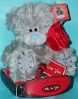 """Me To You Tatty Teddy Bear 'Love You' Valentines Gift-Red Rose 6"""" Display Box"""