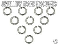 10 x STERLING SILVER JUMP RING 4mm x 0.6mm JEWELLERY
