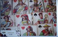 New GREETING card w image of vintage playing cards