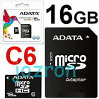 ADATA 16GB 16G Micro SDHC Card Class 6 + Adapter Mobile