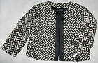 NWT Genuine JESSICA HOWARD black/ ivory jacket, 14W