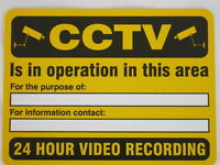 Security Camera Sign - CCTV WARNING SIGN - 200 x 150mm A5 - High Quality Sign