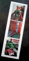 New bookmark w images of vintage robots, books & toy cars