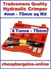 HYDRAULIC CRIMPING TOOL QUALITY CABLE WIRE CRIMPER KIT PRESS HAND TOOL KIT 8 TON