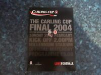 2004 LEAGUE CUP FINAL BOLTON WANDERERS V MIDDLESBROUGH