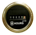 Brand new hour meter 9-80VDC, hourmeter, Chrome Round