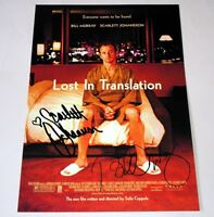 """LOST IN TRANSLATION PP SIGNED 12""""X8"""" POSTER BILL MURRAY"""