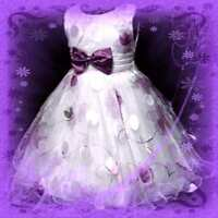 Purple Christmas Wedding Party Flowers Girl Dresses SIZE 2-3-4-5-6-7-8Y