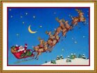 Victorian Christmas Santa Claus #42 Counted Cross Stitch Chart Free Ship USA