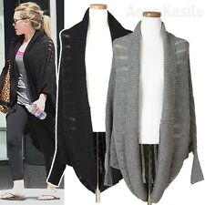 AnnaKastle New Womens Ladder Stitch Open Knit Cocoon Cardigan size S - M