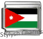 JORDAN JORDANIAN FLAG Photo Italian Charm 9mm - 1 x PC090 Single Bracelet Link