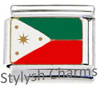 PHILIPPINES FILIPINOS FLAG Enamel Italian Charm 9mm-1xPE027 Single Bracelet Link