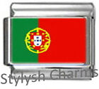 PORTUGAL PORTUGUESE FLAG Photo Italian Charm 9mm - 1x PC142 Single Bracelet Link