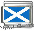 SCOTLAND SCOTTISH FLAG Photo Italian Charm 9mm - 1 x PC153 Single Bracelet Link
