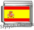 SPAIN SPANISH FLAG Photo Italian Charm 9mm - 1 x PC164 Single Bracelet Link