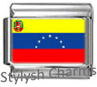 VENEZUELA VENEZUELAN FLAG Photo Italian Charm 9mm- 1x PC193 Single Bracelet Link