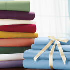 """600TC 15"""" Deep Pocket Sheet Set Solid 100% Cotton All Size & Color Free Shipping"""