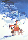 The Last Caribou Rie Munoz Limited Edition Print Rare Lithograph Alaska