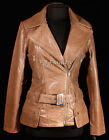 Diaz Vintage Brown Ladies Women's Stylish Retro Real Cow Hide Leather Jacket