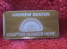 ROYAL ARK MARINERS MASONIC GOLD CASE NAME PLATE ENGRAVED WITH LODGE No & NAME