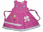 New Baby Girls Cotton Party Dress in Pink,White,Hot Pink From 9-12M to 2-3 Years