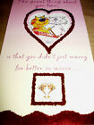 Wedding anniversary card BNIP white envelope animal theme quality card