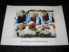 Geoff Hurst AND Martin Peters Signed West Ham Photo + COA - Large 20 x 14 Inch