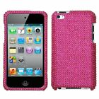 for iPod Touch 4th Gen - Hot Pink Diamond Crystal Bling Rhinestone Case Cover