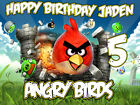 ANGRY BIRDS Edible CAKE Image Icing Topper Party Decoration FREE SHIPPING