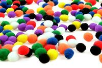100 x Mixed 7mm PomPoms Many Colours and Quantities to Choose From