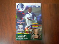 2000 LEAGUE CUP SEMI - FINAL BOLTON WANDERERS v TRANMERE ROVERS