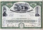 Washington Gas Light Company 2 Color Stock Certificate Set