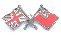UNION JACK & RED ENSIGN FLAGS ENAMEL LAPEL BADGE FREE UK POSTAGE