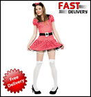 Sexy Minnie Mouse Lady's Fancy Dress Outfit & Ears Women Large UK 16 - 18