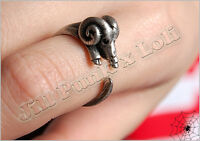 Lolita Lemony Snicket's Unfortunate Events adjustable Baphomet magic ring JN6243