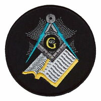 MASONIC CREST & VSL (BIBLE) SMALL EMBROIDERED PATCH BADGE with free UK postage