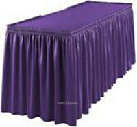TABLESKIRT~TABLECOVER~20 COLOURS~PLASTIC PARTY TABLE SKIRTS COVERS CLOTH