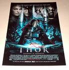 "THOR CAST X3 PP SIGNED 12X8"" POSTER ANTHONY HOPKINS"